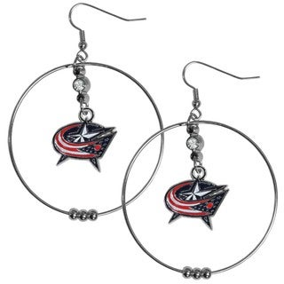 NHL Columbus Blue Jackets 2-inch Hoop Earrings