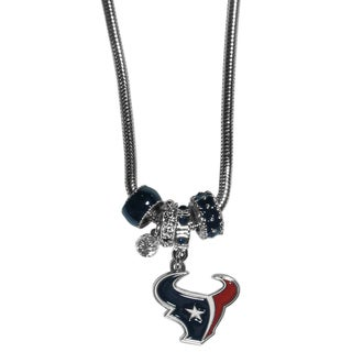 NFL Houston Texans Euro Bead Necklace
