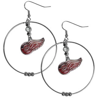 NHL Detroit Red Wings 2-inch Hoop Earrings