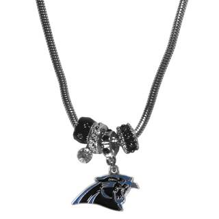 NFL Carolina Panthers Euro Bead Necklace