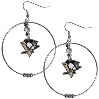 NHL Pittsburgh Penguins 2-inch Hoop Earrings