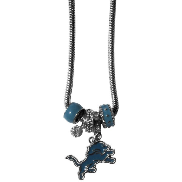 NFL Detroit Lions Euro Bead Necklace