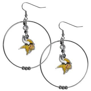 NFL Minnesota Vikings 2-inch Hoop Earrings