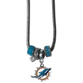 NFL Miami Dolphins Euro Bead Necklace