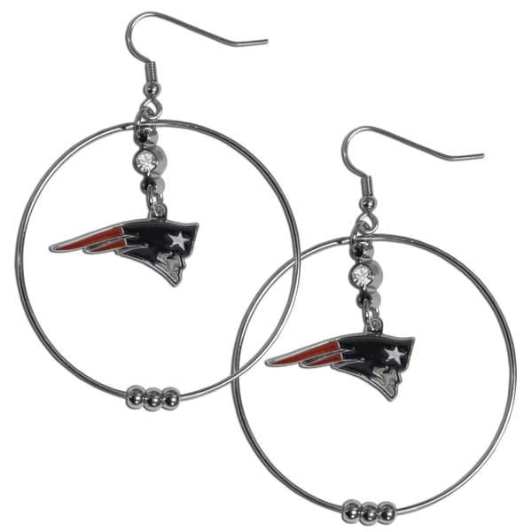 NFL New England Patriots 2-inch Hoop Earrings