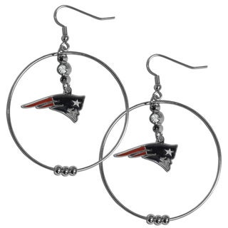 NFL New England Patriots 2-inch Hoop Earrings