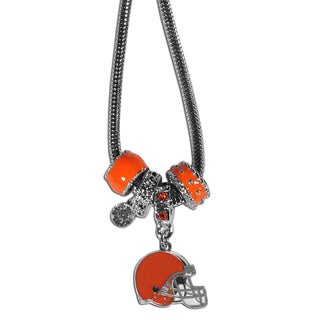 NFL Cleveland Browns Euro Bead Necklace