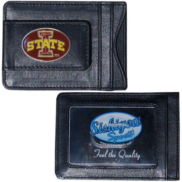 Collegiate Iowa St. Cyclones Leather Cash and Cardholder