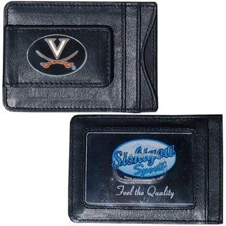 Collegiate Virginia Cavaliers Black Leather Cash and Cardholder