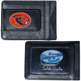 Oregon State Beavers Black Leather Cash/Card Holder