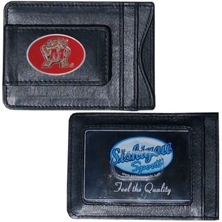 Collegiate Maryland Terrapins Black Leather Cash and Cardholder