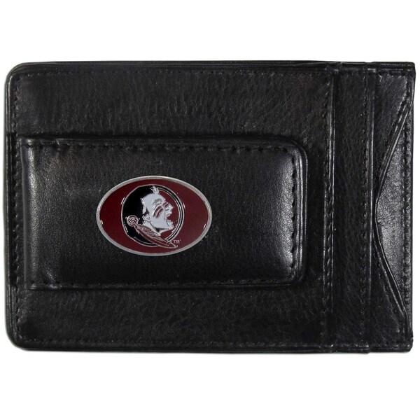 Collegiate Florida St. Seminoles Leather Cash and Card Holder