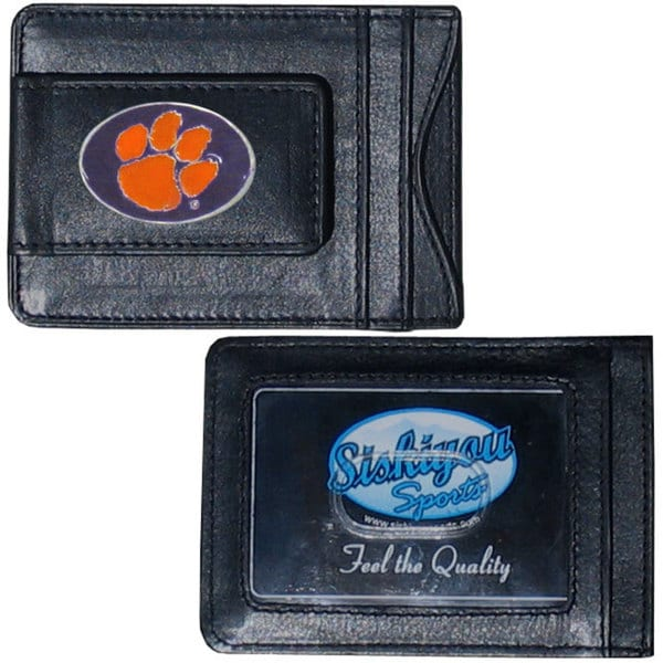 Collegiate Clemson Tigers Leather Cash and Cardholder