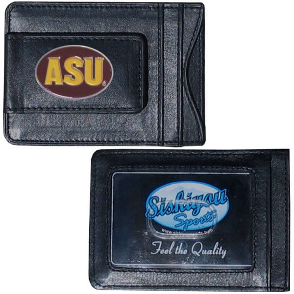 Collegiate Arizona State Sun Devils Leather Cash and Card Holder