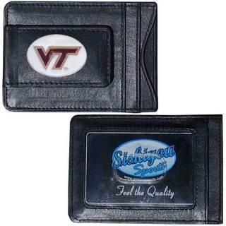 Collegiate Virginia Tech Hokies Black Leather Cash and Cardholder