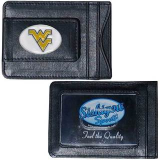Collegiate West Virginia Mountaineers Leather Cash and Card Holder