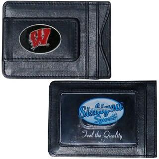Collegiate Wisconsin Badgers Leather Cash Cardholder