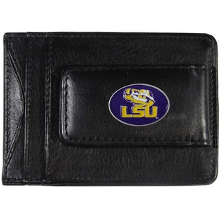 Collegiate LSU Tigers Leather Cash and Card Holder