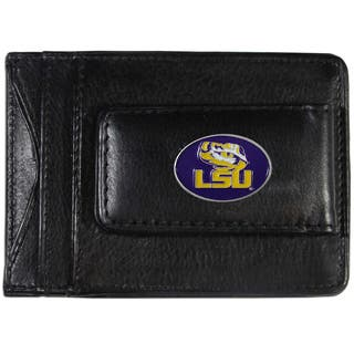 Collegiate LSU Tigers Leather Cash and Card Holder|https://ak1.ostkcdn.com/images/products/13474759/P20161392.jpg?impolicy=medium
