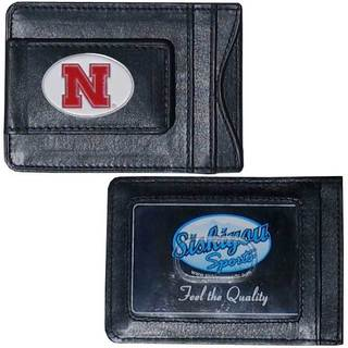 Collegiate Nebraska Cornhuskers Black Leather Cash and Cardholder