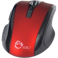 SIIG 6-Button Ergonomic Wireless Optical Mouse - Red