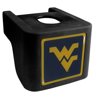 Collegiate West Virginia Mountaineers Black Shin Shield Hitch Cover