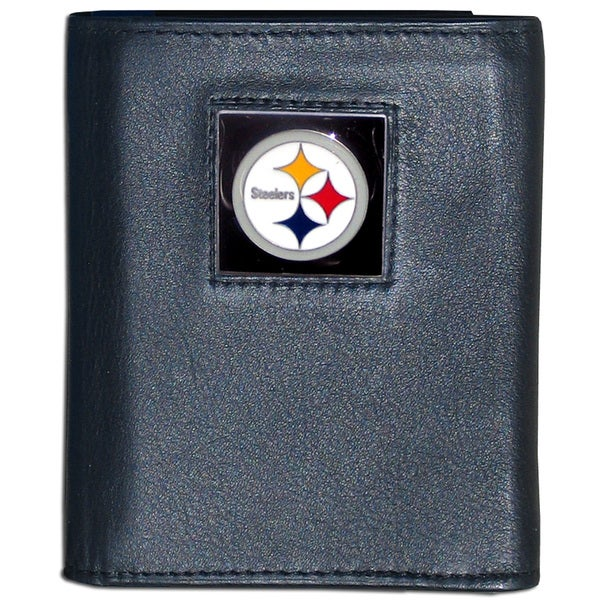 NFL Pittsburgh Steelers Leather Tri-fold Wallet