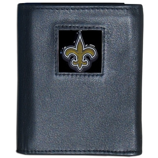 NFL New Orleans Saints Leather Tri-fold Wallet