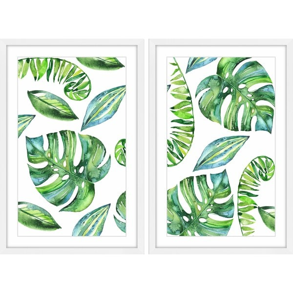 Leaves in Motion Diptych