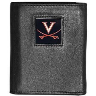 Collegiate Virginia Cavaliers Leather Tri-fold Wallet