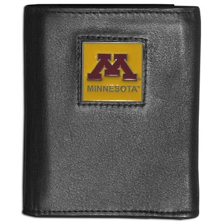 Collegiate Minnesota Golden Gophers Leather Tri-fold Wallet
