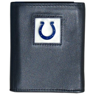 NFL Indianapolis Colts Black Leather Tri-fold Wallet