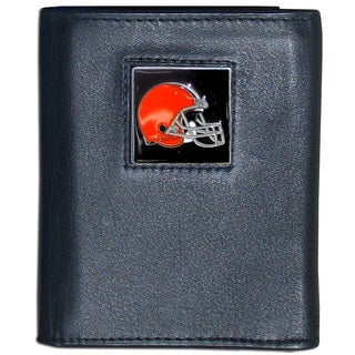 NFL Cleveland Browns Leather Tri-fold Wallet
