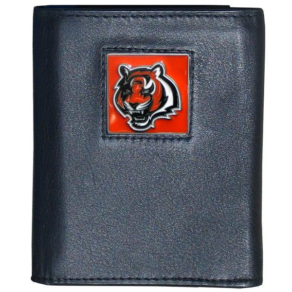 NFL Cincinnati Bengals Leather Tri-fold Wallet