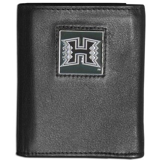 Collegiate Hawaii Warriors Leather Tri-fold Wallet