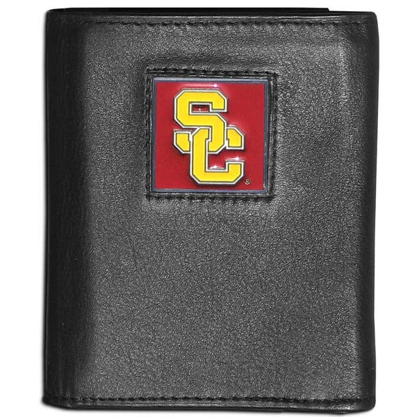 Collegiate USC Trojans Leather Tri-fold Wallet