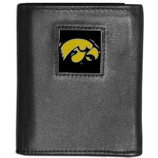 Collegiate Iowa Hawkeyes Leather Tri-fold Wallet