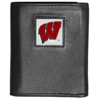 Collegiate Wisconsin Badgers Leather Tri-fold Wallet