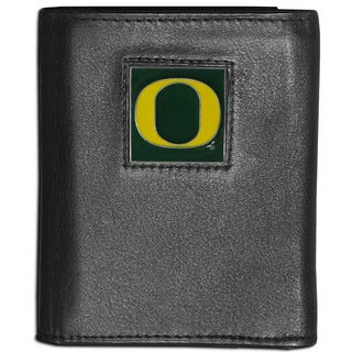 Collegiate Oregon Ducks Leather Tri-fold Wallet