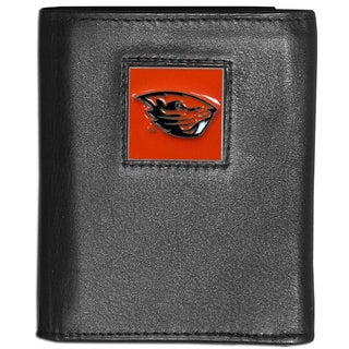 Collegiate Oregon State Beavers Leather Tri-fold Wallet
