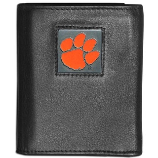 Collegiate Clemson Tigers Leather Tri-fold Wallet