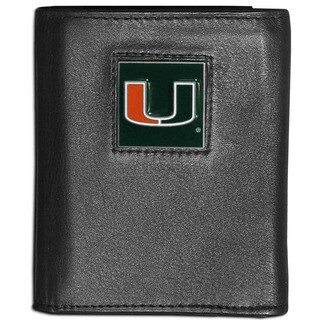 Collegiate Miami Hurricanes Leather Tri-fold Wallet