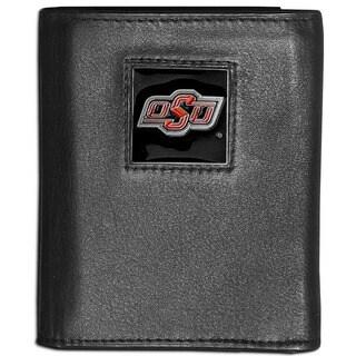 Collegiate Oklahoma State Cowboys Leather Tri-fold Wallet