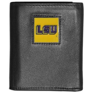 Collegiate LSU Tigers Leather Tri-fold Wallet