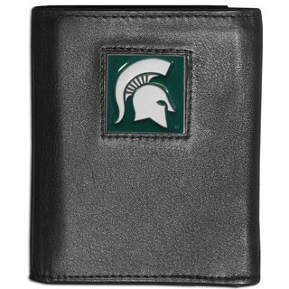 Collegiate Michigan State Spartans Leather Tri-fold Wallet