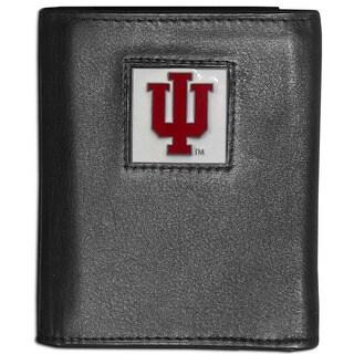 Collegiate Indiana Hoosiers Leather Tri-fold Wallet