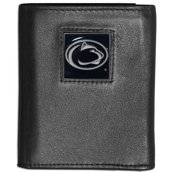 Collegiate Penn St. Nittany Lions Black Leather Tri-fold Wallet