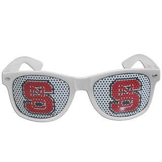 Collegiate North Carolina State Wolfpack White Plastic Game Day Shades