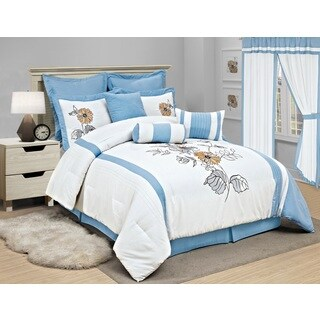 Rachel 8-piece Embroidered Comforter Set