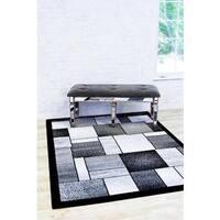 "Persian Rugs Modern Trendz Grey/Multicolor Polypropylene Area Rug - 2' x 3'4"""
